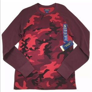 NWT Men's Polo Ralph Lauren Camo Thermal Top
